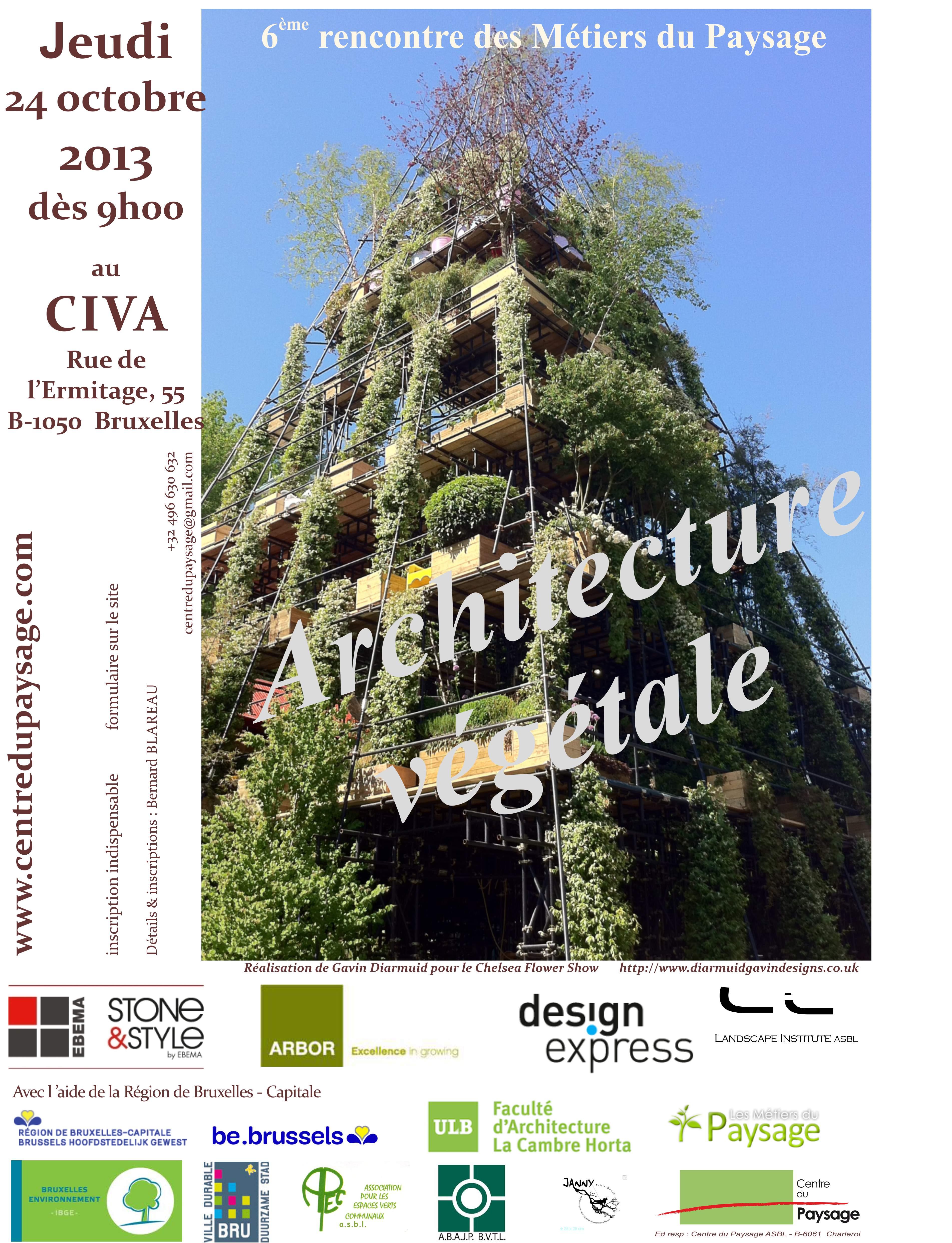 6ème rencontre des Métiers du Paysage : ARCHITECTURE VEGETALE