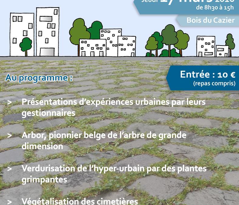 lien pour l'inscription : Zéro pesticide en milieu urbain ! Comment y parvenir ?