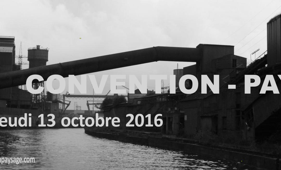 CONVENTION – PAYSAGE 13 octobre 2016 au Bois du Cazier (Marcinelle)