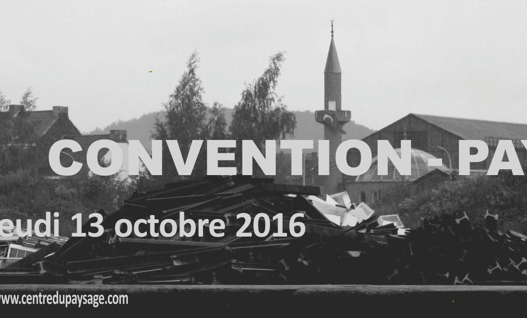 CONVENTION – PAYSAGE  :  vue de Sambre