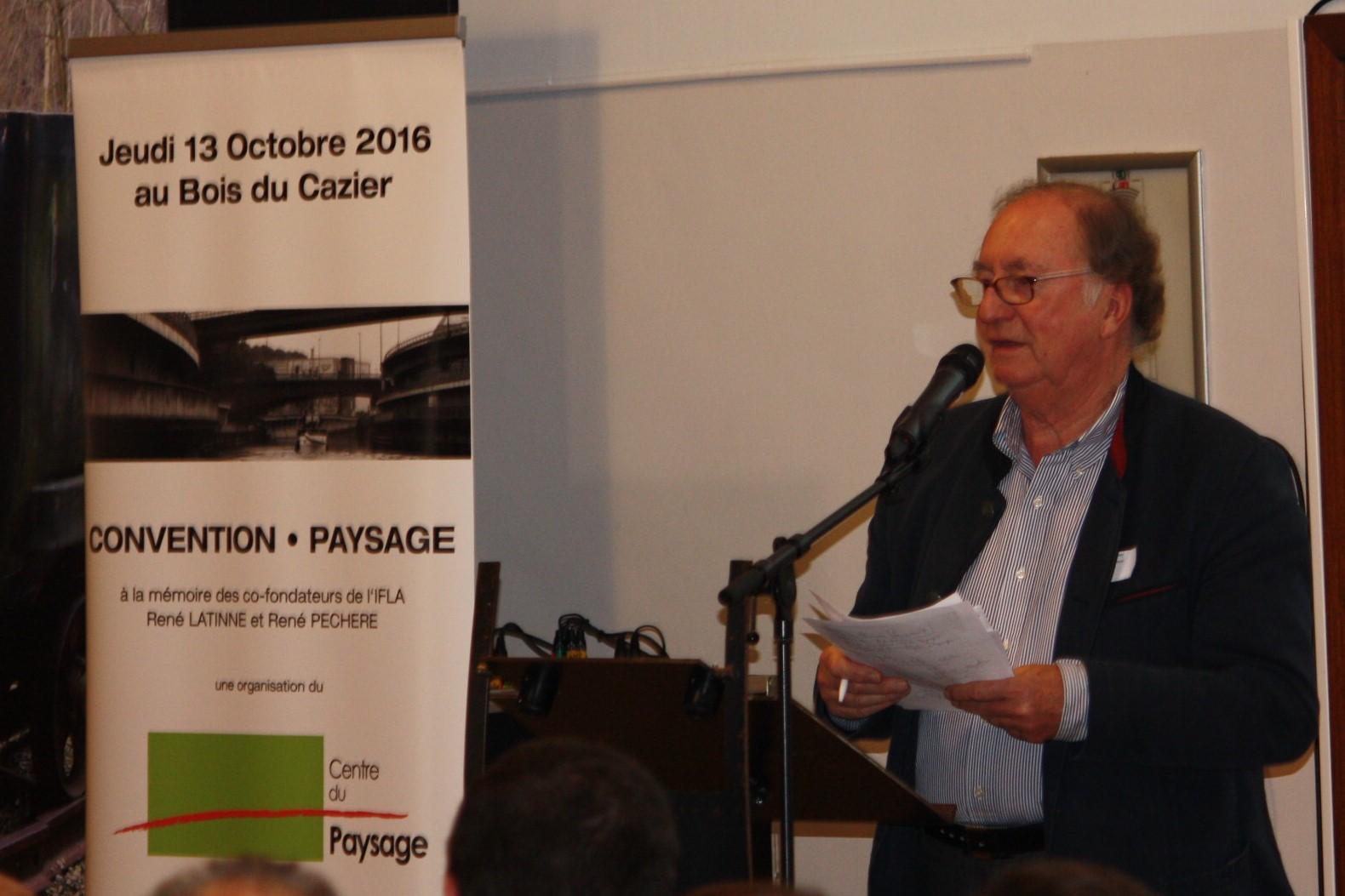 Jean Noël Capart (président de la Convention-Paysage)