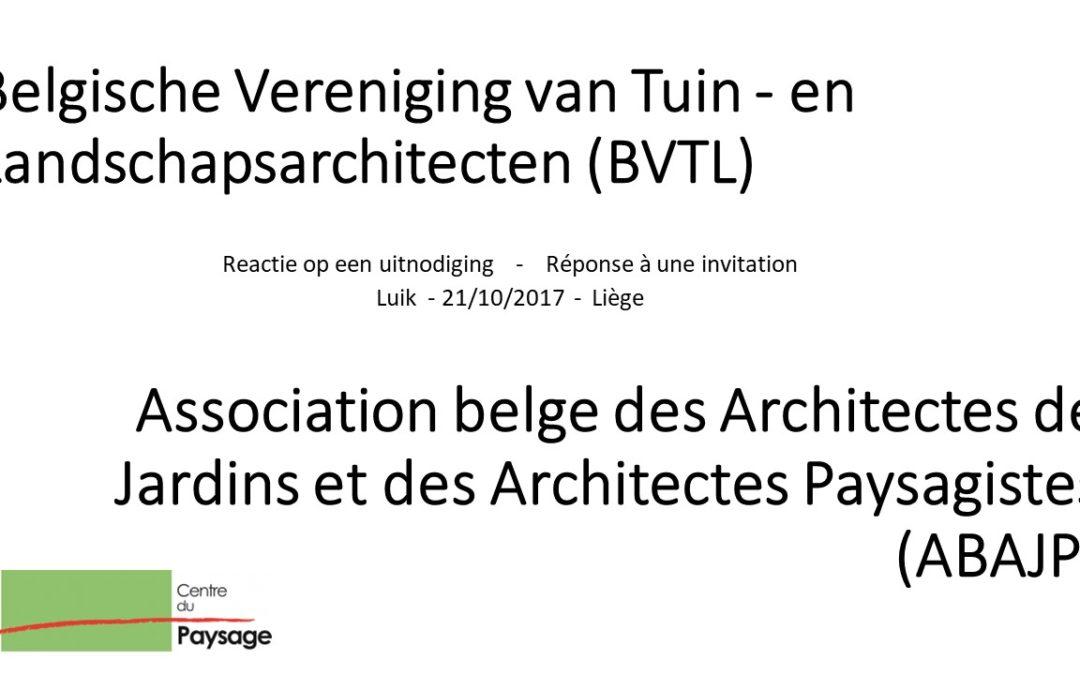 ABAJP-BVTL : AG du 21-10-2017 –  réponse à une invitation