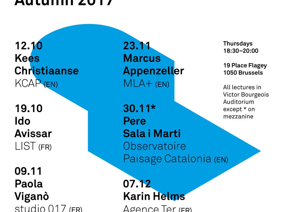 Les conférences d'automne à l'ULB Faculté d'Architecture  : info de Didier Vancutsem