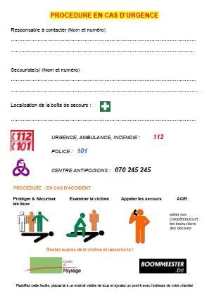 BOOMMEESTER.be : procédure de sécurité sur vos chantiers